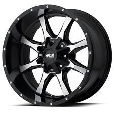 """20 Inch Black Silver Wheels Rims GMC Sierra 2500 3500 HD 2011-2019 20x9"""" 8x180"""