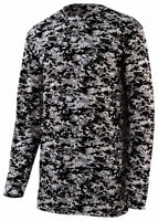 Augusta Sportswear Men's New Polyester Digital Camo Long Sleeve T-Shirt. 2788
