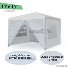 10'x10' Canopy Tent Gazebo Outdoor Folding Market Wedding Party Marquee Tent Hot