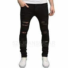 Loyalty & Faith Mens Designer Skinny Fit Distressed Ripped Detail Jeans, BNWT