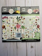 The Happy Planner RARE GARDENING 1 & 2 (246 & 411 pcs) Brand New Free Shipping