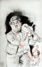 FERNANDO BOTERO / Authentic Colored Pencil Graphite on Paper, Signed & Dated.