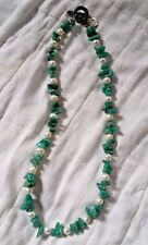 Natural Amazonite, Turquoise and Pearl Necklace By HandPicked Artisans
