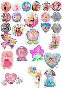 Barbie Glamour Doll Foil Helium Balloons Party Ware Decoration Novelty Gift