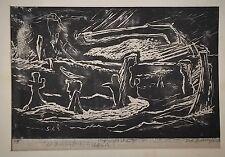 WPA Artist  Sid Gotcliffe (American 1899-1969) Woodblock Print Pencil Signed