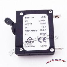 230V 15 AMP 15A Generator Circuit Breaker Hertz 50/60 18.8 Trip Amps Fuses