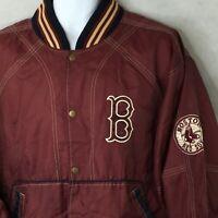 Boston Red Sox G-III Carl Banks Jacket Sz L WindBreaker Baseball MLB Coat Snap