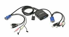 Iogear GCS72U 2-Port USB Cable KVM Switch VGA with Audio and Mic Plug-n-Play