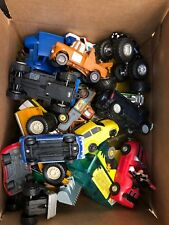 Lot Of 24 Toy Vehicles Plastic Metal Cars Trucks Tractors +