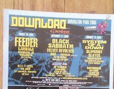 BLACK SABBATH Download 2005 UK magazine ADVERT / Poster 8x6 inches