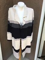 New $149 Chico's Zenergy Cotton Cashmere Cardigan Sweater Sz 2 L Large 12 14 NWT
