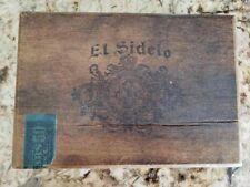 Vintage Antique 1936 Solid Wood El Sidelo Empire Cigar Box C 106 Revenue Stamp