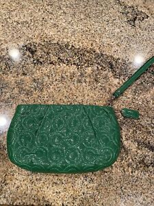 coach wristlet Wallet Clutch, Patent Lesther Green