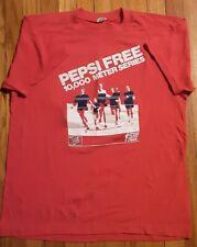 Vintage Pepsi Free Cola 10,000 meter Series Race Indianapolis Indiana sz L Shirt