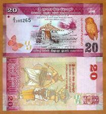 Sri Lanka, 20 Rupees, 2010, P-123, UNC > Z/2 REPLACEMENT