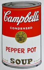 ANDY WARHOL CAMPBELLS' PEPER POT Soup Can SUNDAY B.MORNING Silkscreen Print COA