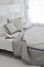 Clayre & Eef Plaid Quilt Tagesdecke Bettüberwurf 180 x 260 Shabby Landhaus