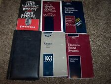 1993 Ford Ranger Owner Operator Manual XL XLT STX Splash 2.3L 3.0L 4.0L V6 4Cyl