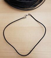 Leather Cord Charm Choker Necklaces Handmade to Order