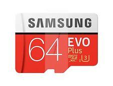 SAMSUNG EVO PLUS MICRO SDXC 100MB/s Read 60MB/s Write 64 GB FLASH MEMORY CARD AU