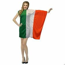 Ladies Irish Flag Dress Fancy Dress St Patricks Day Ireland Costume
