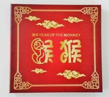 2016 Lunar Year Monkey Gold Mini Sheet & Foil Die Set Ballot Issued Only 200