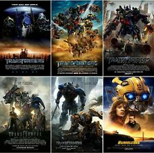 Transformers Movie Poster Collection Bundle (Set of 6) - NEW - 11x17 13x19