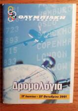 OLYMPIC AIRWAYS 2001 Airline Timetable A148