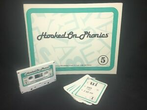 (AT) Hooked On Phonics 1993 Unwritten In BOOK 5 With Matching Tape & Cards
