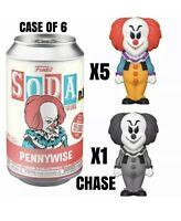 FUNKO SODA 2020 RHODE ISLAND COMIC CON SEALED CASE 6 CLASSIC IT PENNYWISE POP