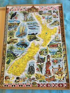 Vintage New Zealand map no 5 jigsaw puzzle by G.B. Scott publications Auckland