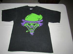 Insane Clown Posse Vintage 1995 Riddle Box Concert Black Shirt Adult Size XL