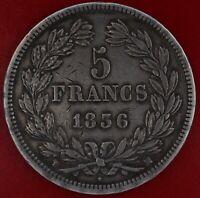 FRANCE 5 FRANCS LOUIS PHILIPPE 1836 MA ARGENT