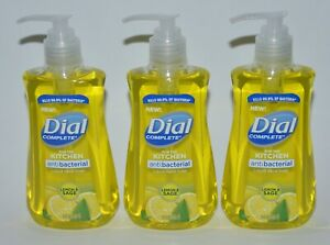 Lote 3 Dial Completo Limón Y Salvia Líquido Mano Jabón Lavado Antibacteria 222ml