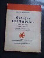 P. Humbourg Georges Duhamel Son Maestra Portrait&autographe Edit.o / SD N. R.c