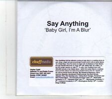 (DS117) Say Anything, Baby Girl I'm A Blur - DJ CD