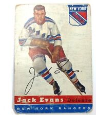 1954-55 TOPPS HOCKEY JACK EVANS #14 CARD NEW YORK RANGERS VINTAGE CONDITION