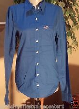 Hollister By Abercrombie & Fitch Dark Blue Dress Shirt Top Shirt M Medium