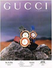 PUBLICITE ADVERTISING  1994   GUCCI  collection montres
