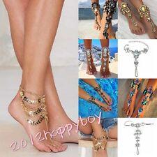 Sexy Barefoot Sandal Rhinestone Crystal Beach Anklet Chain Bracelet Foot Jewelry