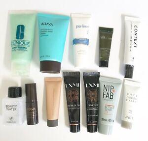 Beauty SAMPLE lot 12 Products AHAVA PURLISSE CLINIQUE BECCA Stocking Stuffer