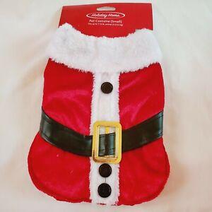 Pet Costume Dog Cat Red Santa Suit Size Small Velvet Lush Feel Christmas