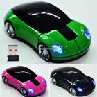 New 2.4G Car Shape Wireless Optical Mouse Mice For Laptop PC USB Receiver ED