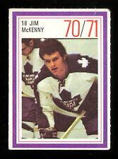 1970-71 ESSO POWER PLAYERS NHL #18 JIM McKENNY EX-NM MAPLE LEAFS UNUSED STAMP