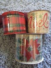 Winter Wonder Lane Christmas Decorative Ribbons Lot of 3 Rolls New