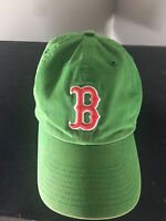 Boston Red Sox Fitted Baseball Cap Hat Green w/ Red Clover Irish Size Large