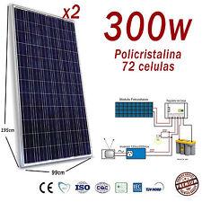 Placa solar 600w 24v panel modulo fotovoltaico Dos 300w