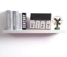 Wandregal Wandboard Bücherregal Hängeregal MDF Holz Regal 100cm Weiß RG9234ws