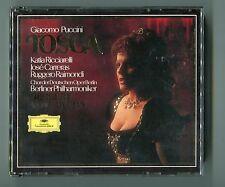 Giacomo Puccini 2 CD Box TOSCA West Germany 413 815-2 Herbert v Karajan Carreras