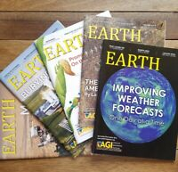 Lot of 5 Earth Magazine Back Issues 2016 2017 AGI American Geosciences Institute